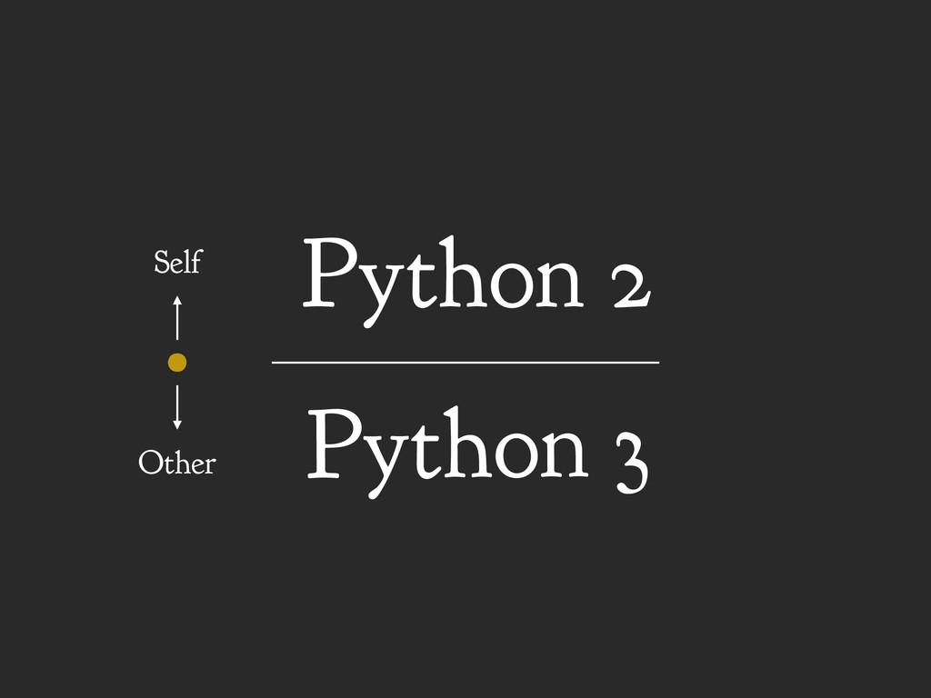 Python 3 Python 2 Self Other
