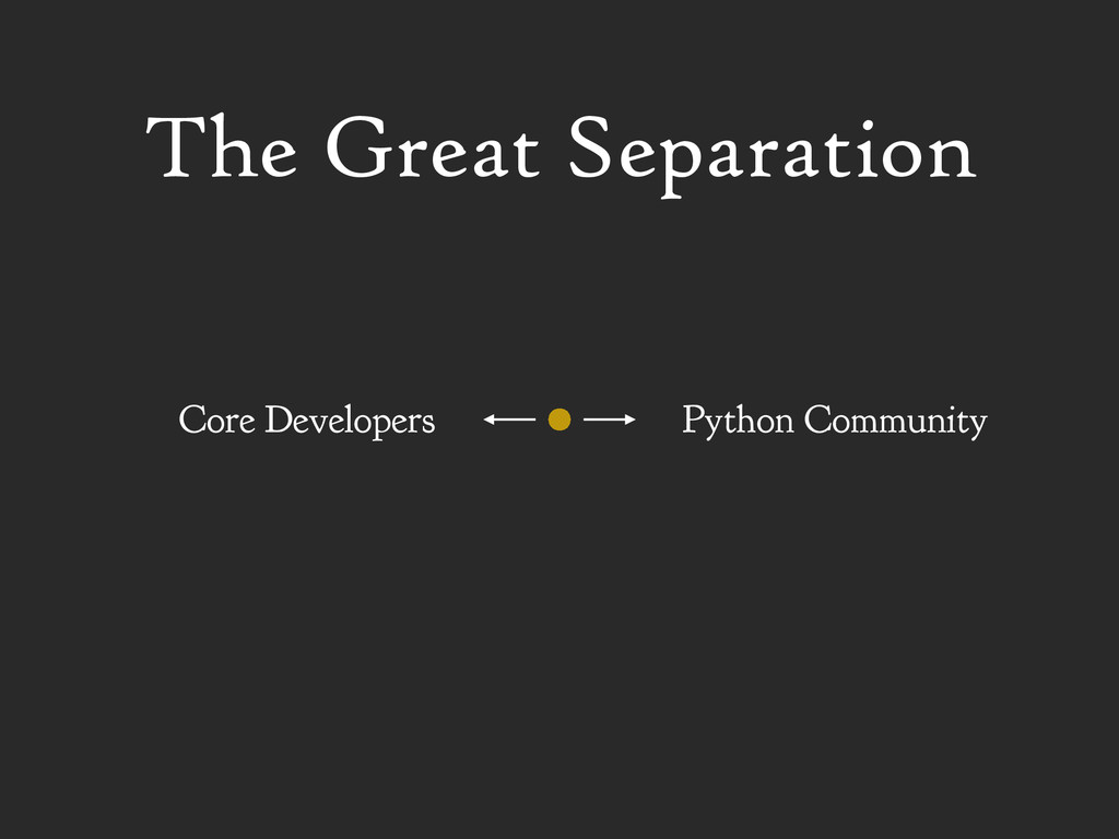 Python Community Core Developers The Great Sepa...