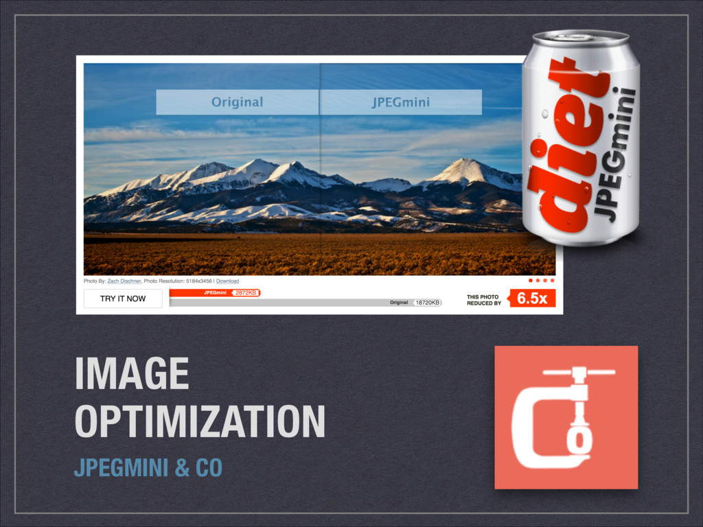IMAGE OPTIMIZATION JPEGMINI & CO