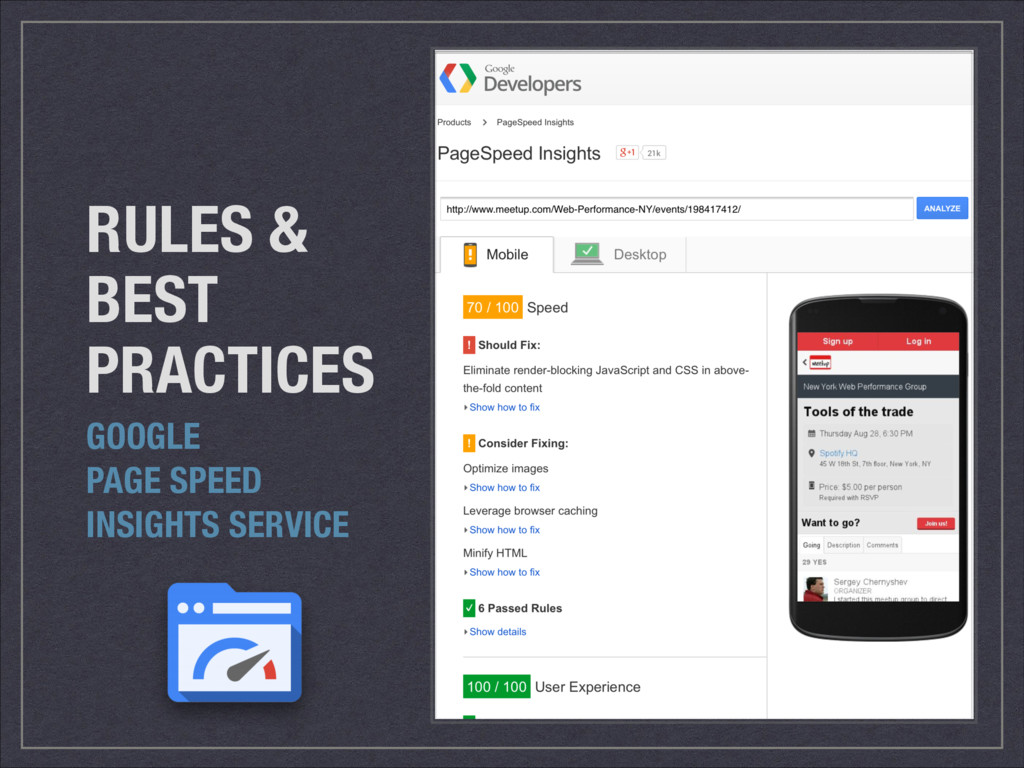 RULES & BEST PRACTICES GOOGLE PAGE SPEED INSIGH...