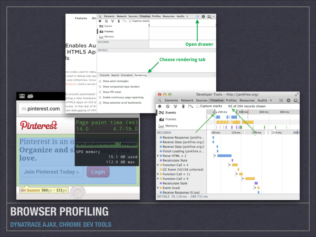 BROWSER PROFILING DYNATRACE AJAX, CHROME DEV TO...