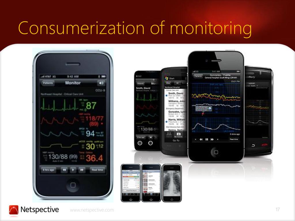 17 www.netspective.com Consumerization of monit...