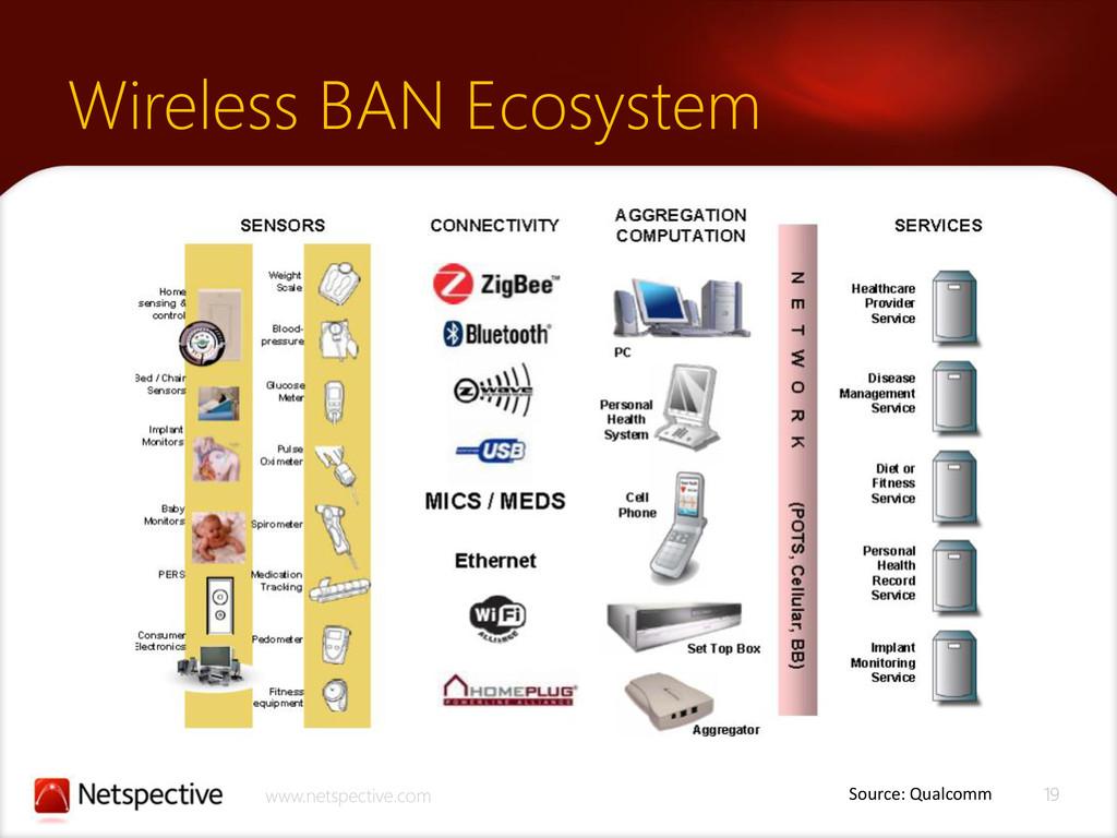 19 www.netspective.com Wireless BAN Ecosystem S...
