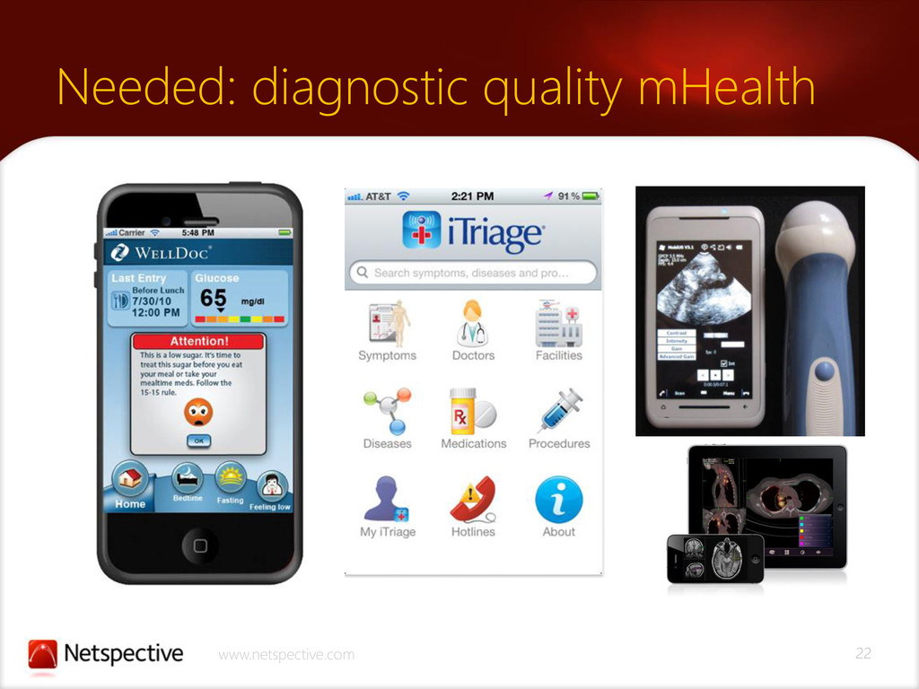 22 www.netspective.com Needed: diagnostic quali...