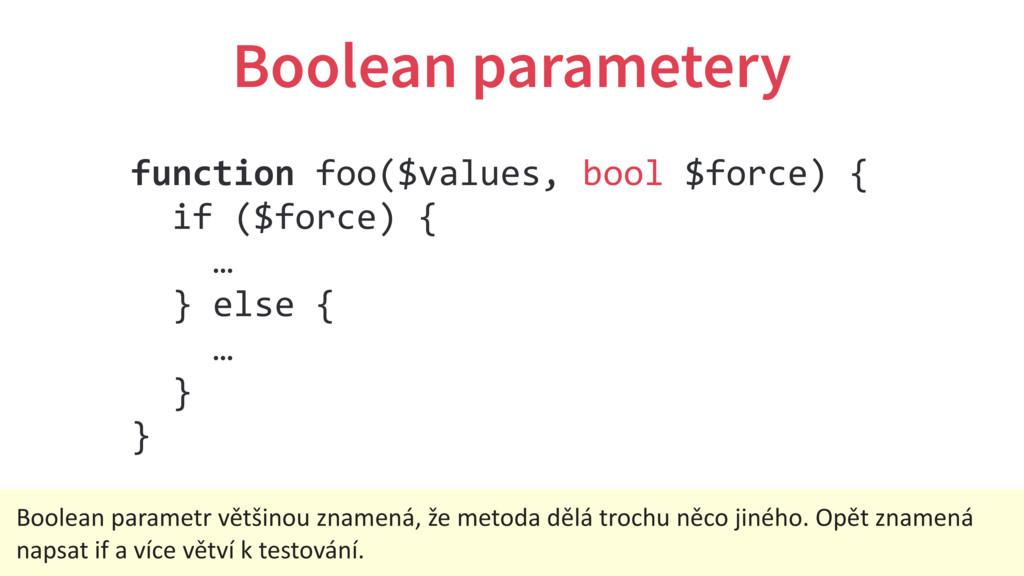 Boolean parametery function foo($values, bool $...