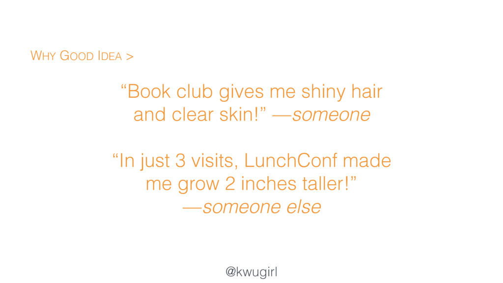 "@kwugirl ""Book club gives me shiny hair and cle..."