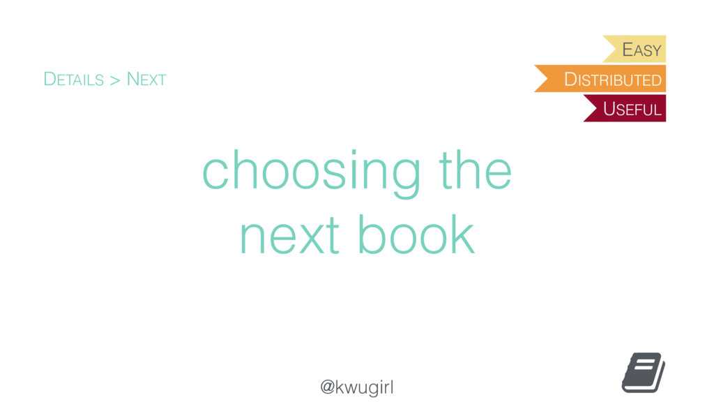 @kwugirl choosing the next book DETAILS > NEXT ...