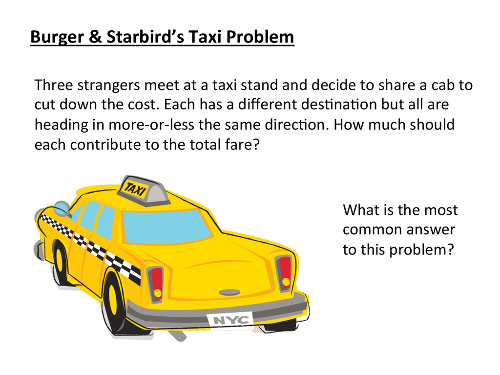 Three strangers meet at a taxi...