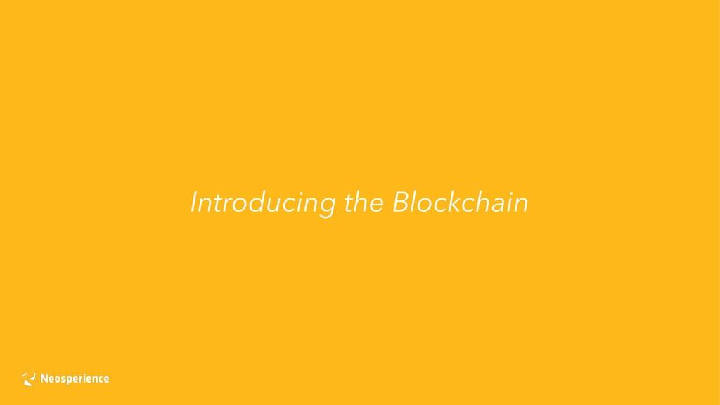 Introducing the Blockchain
