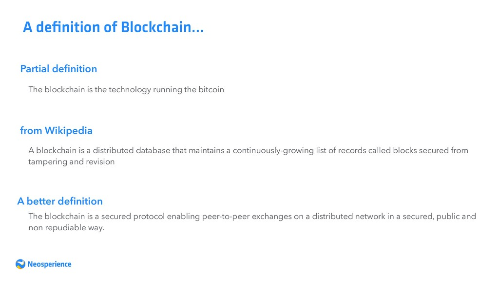 Partial definition A definition of Blockchain… Th...