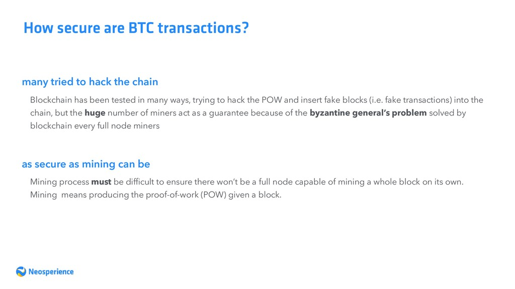 many tried to hack the chain How secure are BTC...