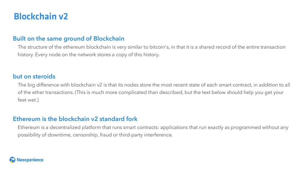 Built on the same ground of Blockchain Blockcha...