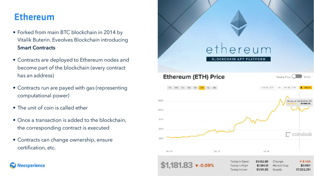 Ethereum • Forked from main BTC blockchain in 2...