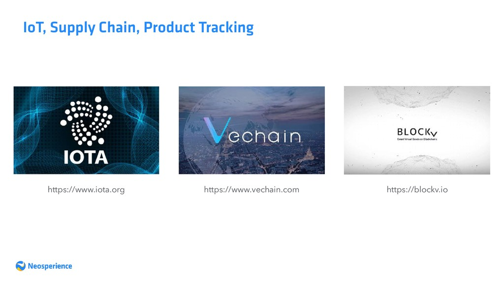 IoT, Supply Chain, Product Tracking https://www...