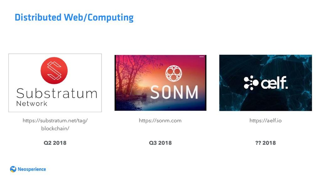 Distributed Web/Computing https://substratum.ne...