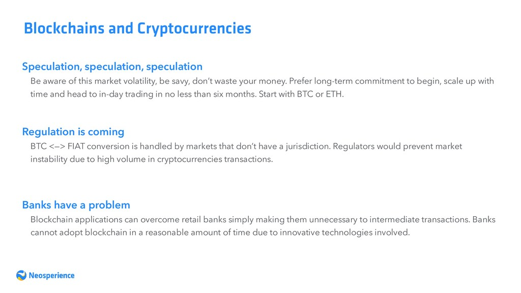 Speculation, speculation, speculation Blockchai...