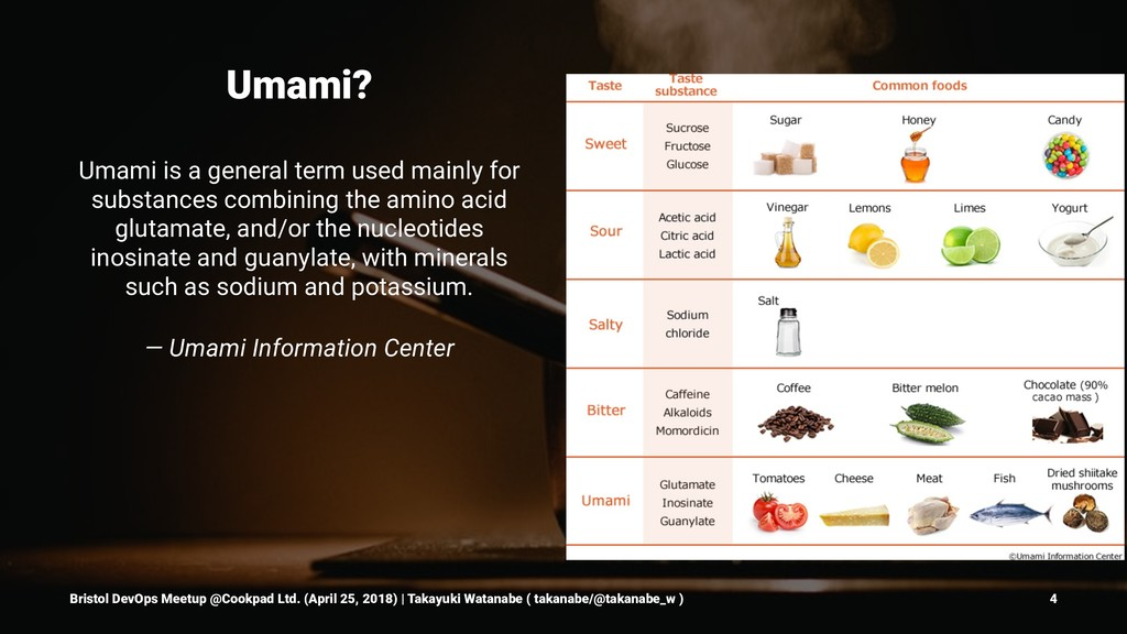 Umami? Umami is a general term used mainly for ...