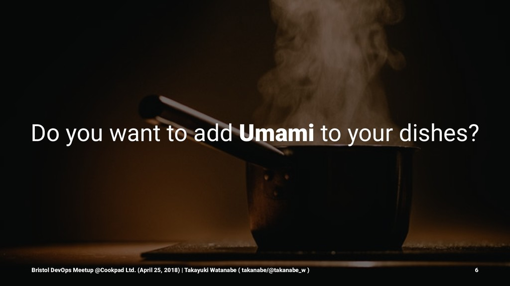Do you want to add Umami to your dishes? Bristo...