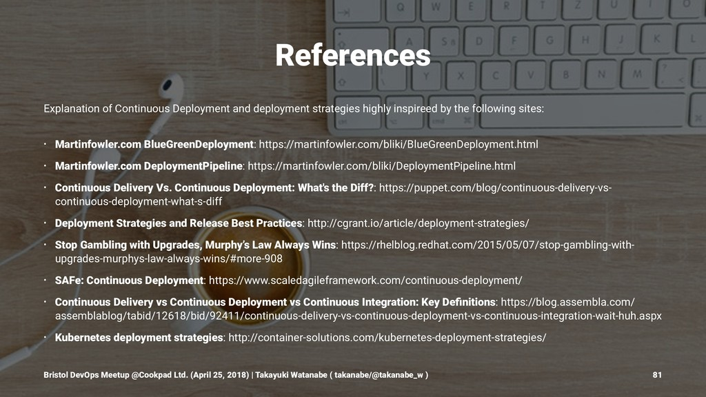 References Explanation of Continuous Deployment...