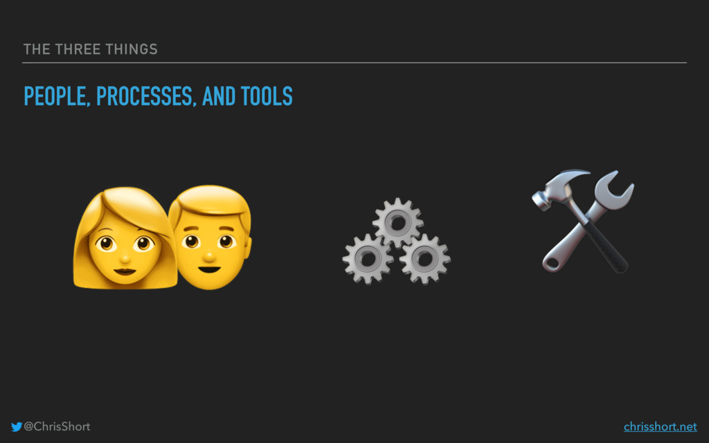 THE THREE THINGS PEOPLE, PROCESSES, AND TOOLS  ...