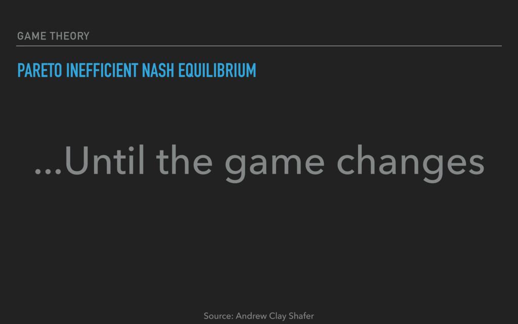 GAME THEORY PARETO INEFFICIENT NASH EQUILIBRIUM...