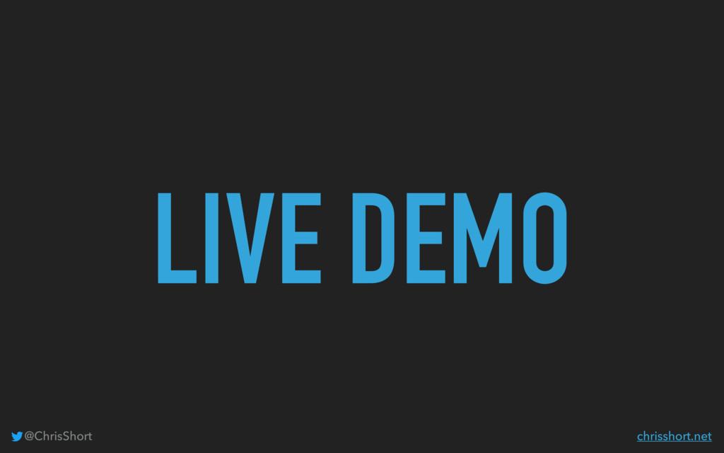 LIVE DEMO @ChrisShort chrisshort.net