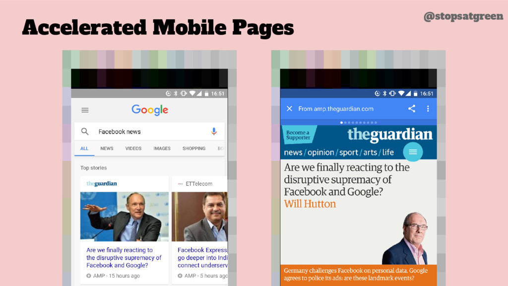 Accelerated Mobile Pages @stopsatgreen