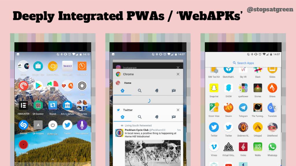 Deeply Integrated PWAs / 'WebAPKs' @stopsatgreen