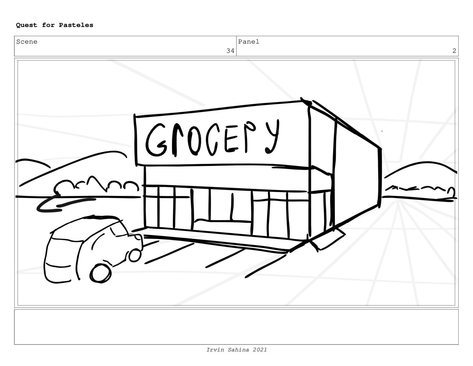 Scene 37 Panel 1 Quest for Pasteles Irvin Sahin...