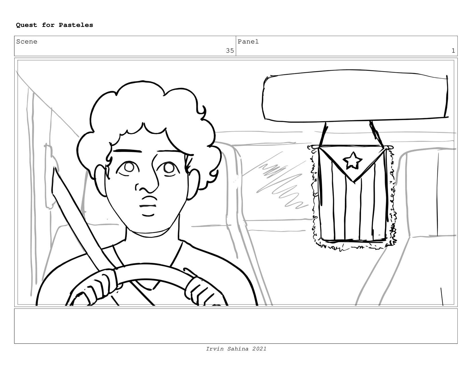 Scene 38 Panel 1 Quest for Pasteles Irvin Sahin...