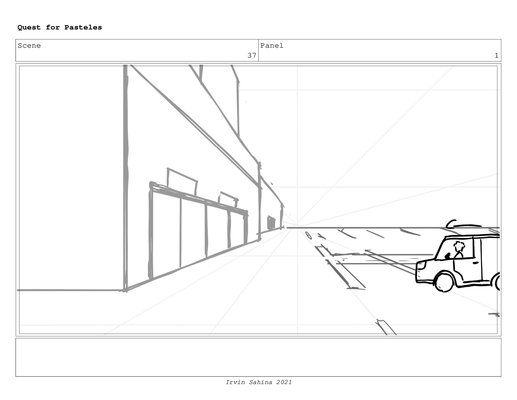 Scene 40 Panel 2 Quest for Pasteles Irvin Sahin...