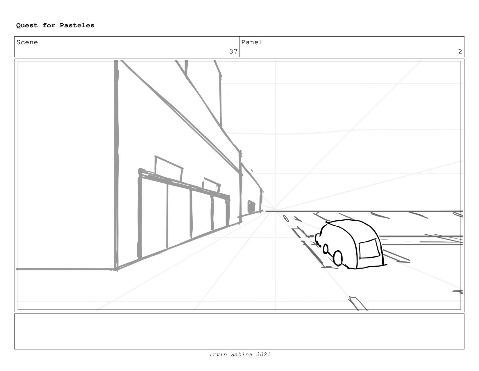 Scene 40 Panel 3 Quest for Pasteles Irvin Sahin...