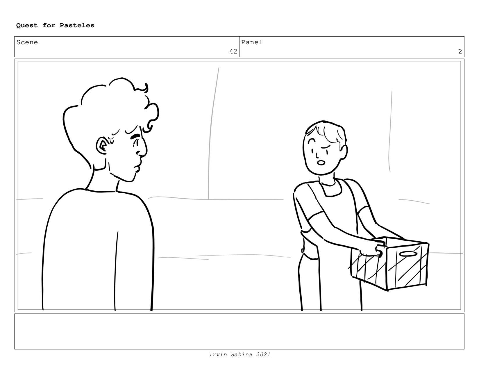 Scene 45 Panel 1 Quest for Pasteles Irvin Sahin...