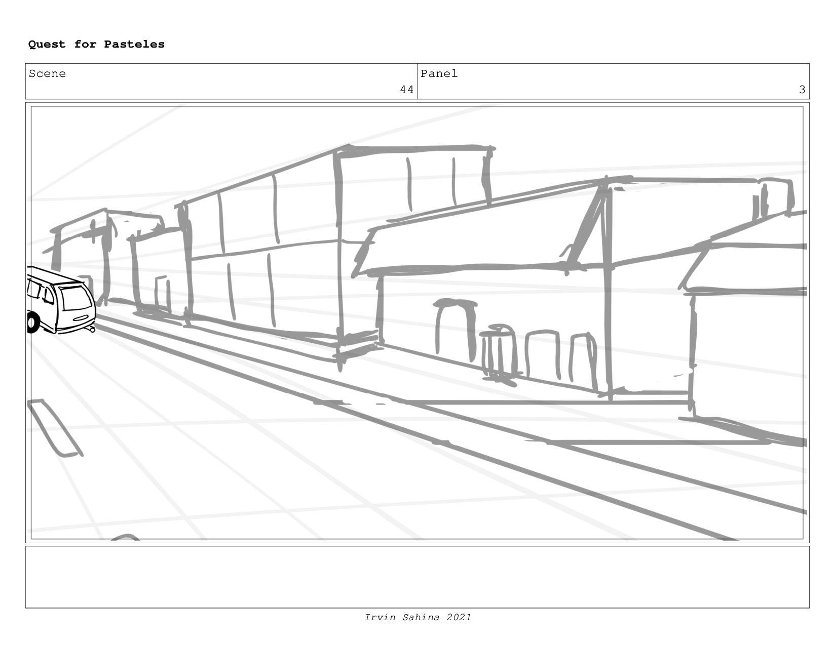 Scene 47 Panel 1 Quest for Pasteles Irvin Sahin...