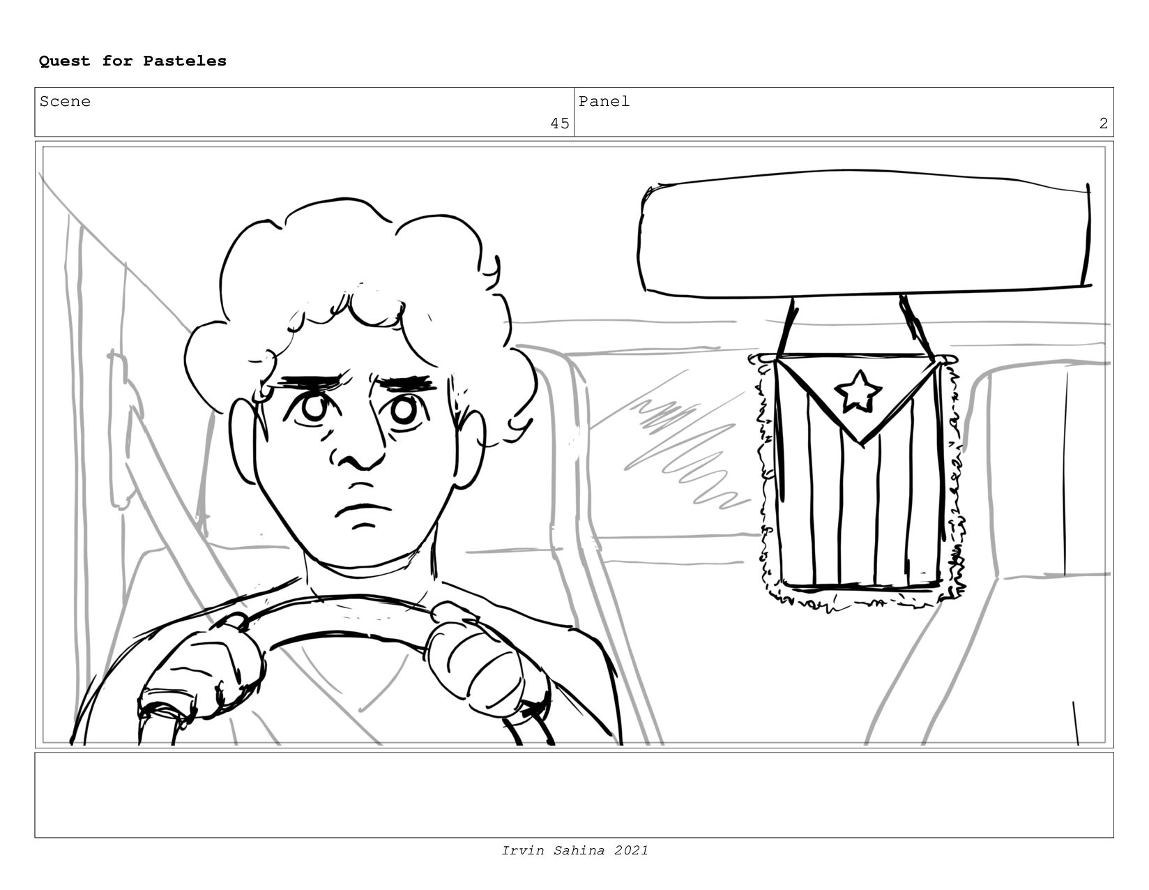 Scene 47 Panel 3 Quest for Pasteles Irvin Sahin...
