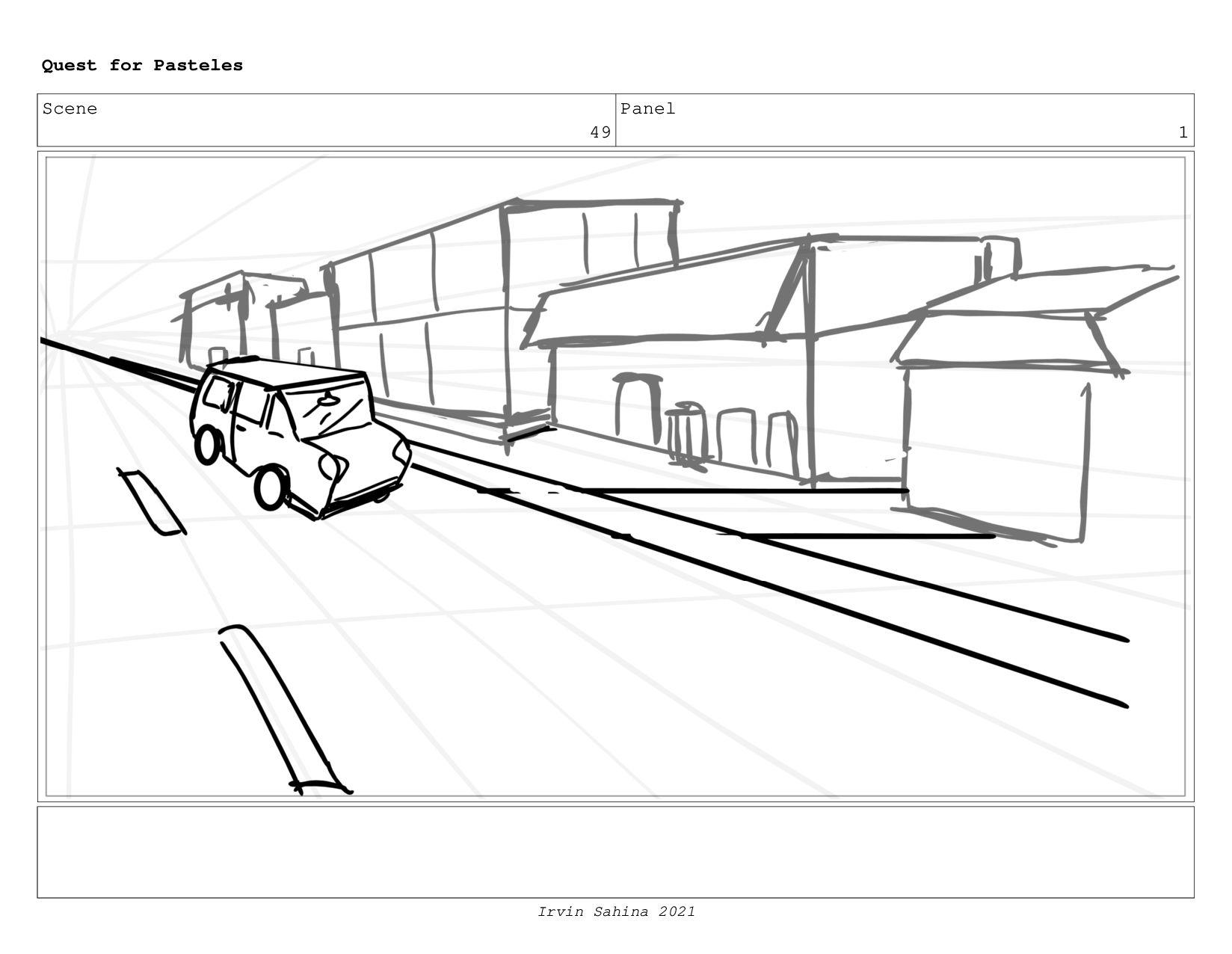 Scene 53 Panel 1 Quest for Pasteles Irvin Sahin...