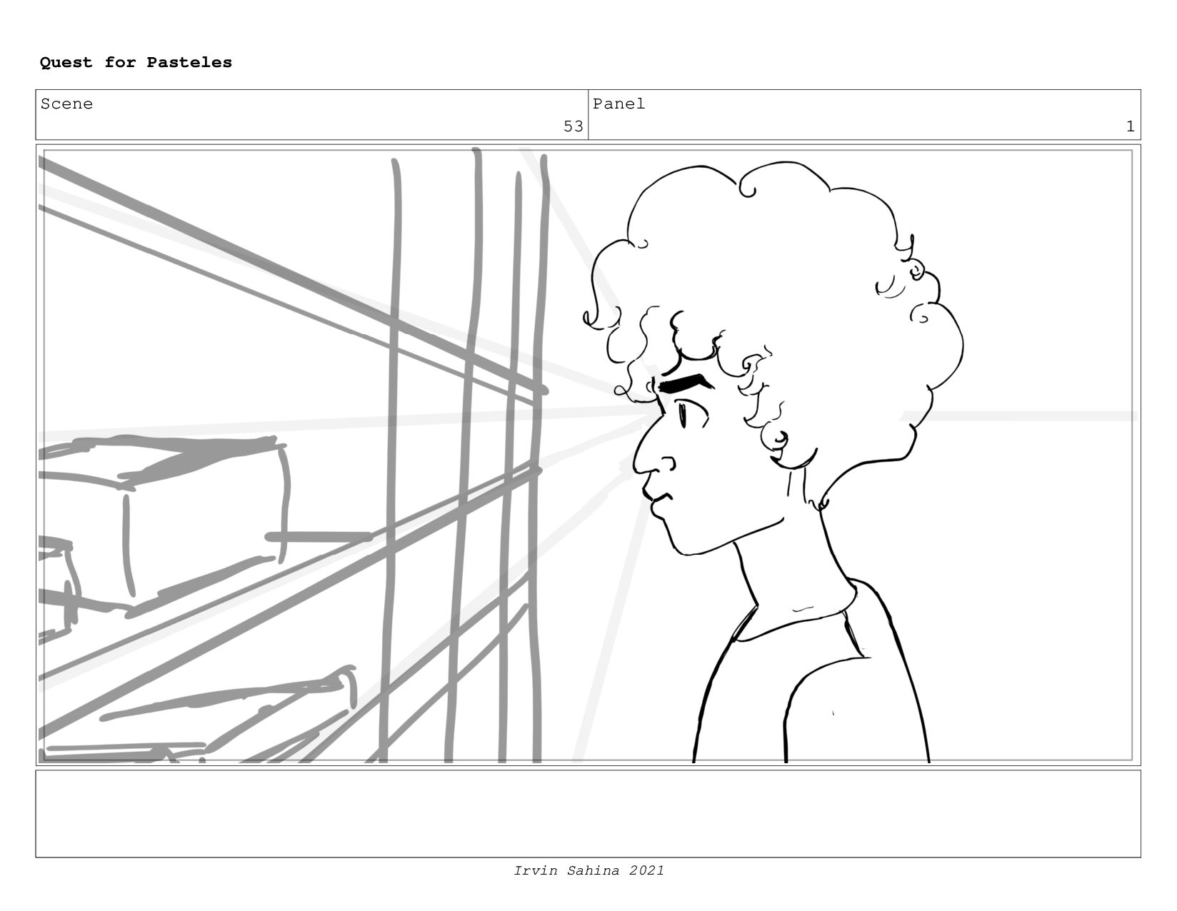 Scene 54 Panel 2 Quest for Pasteles Irvin Sahin...