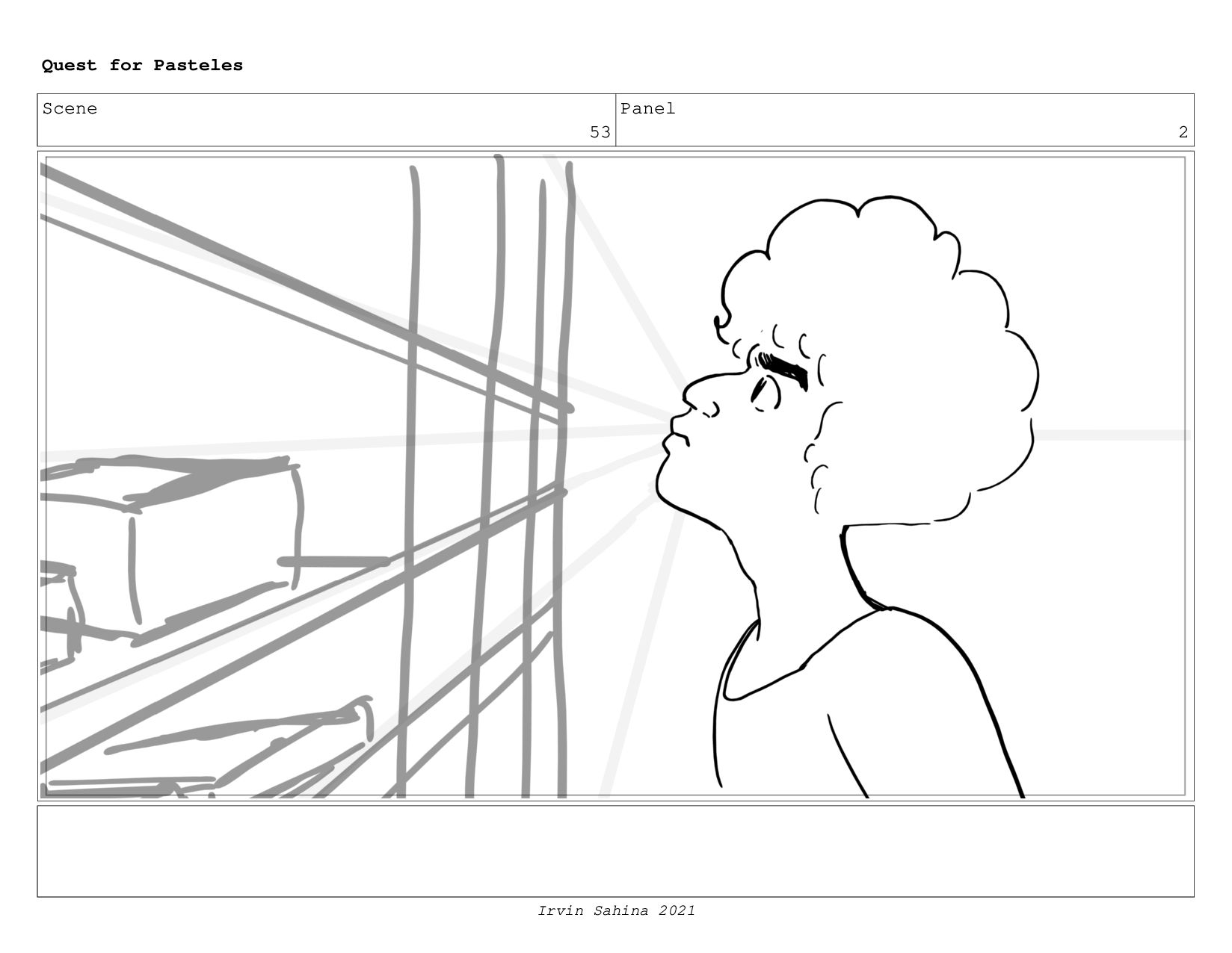 Scene 54 Panel 3 Quest for Pasteles Irvin Sahin...