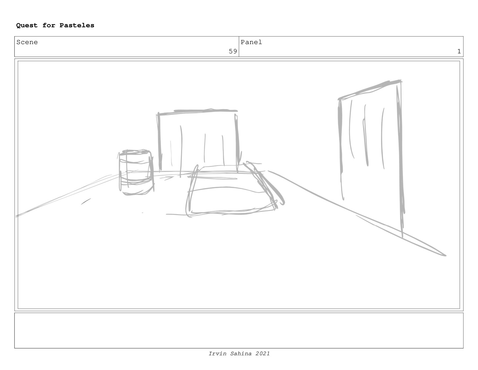 Scene 61 Panel 3 Quest for Pasteles Irvin Sahin...