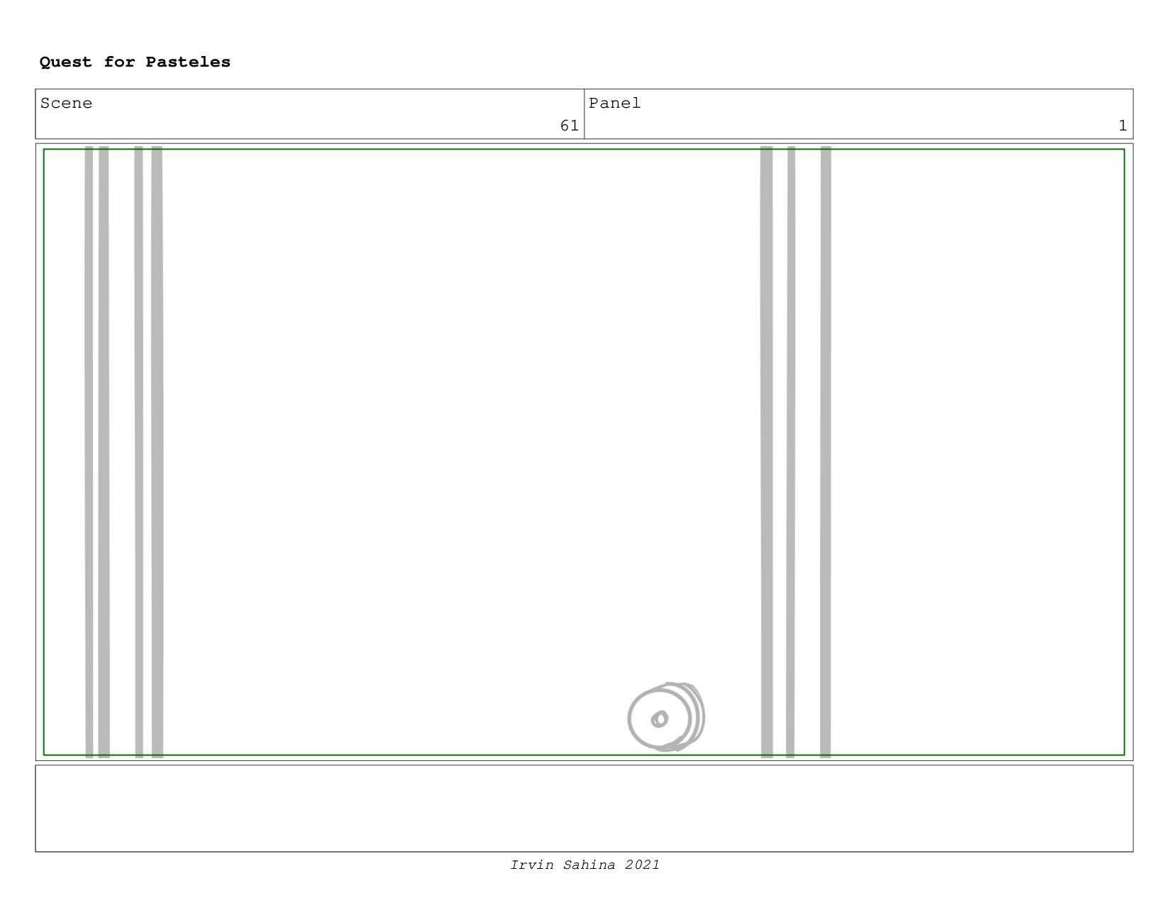 Scene 62 Panel 1 Quest for Pasteles Irvin Sahin...
