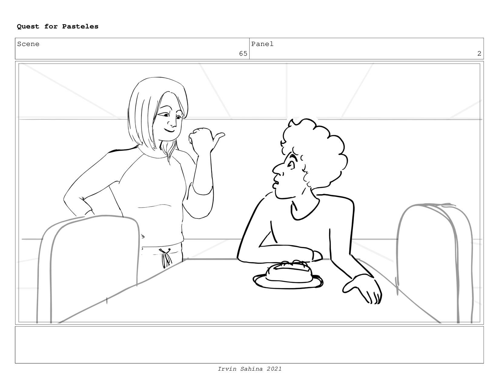 Scene 69 Panel 1 Quest for Pasteles Irvin Sahin...