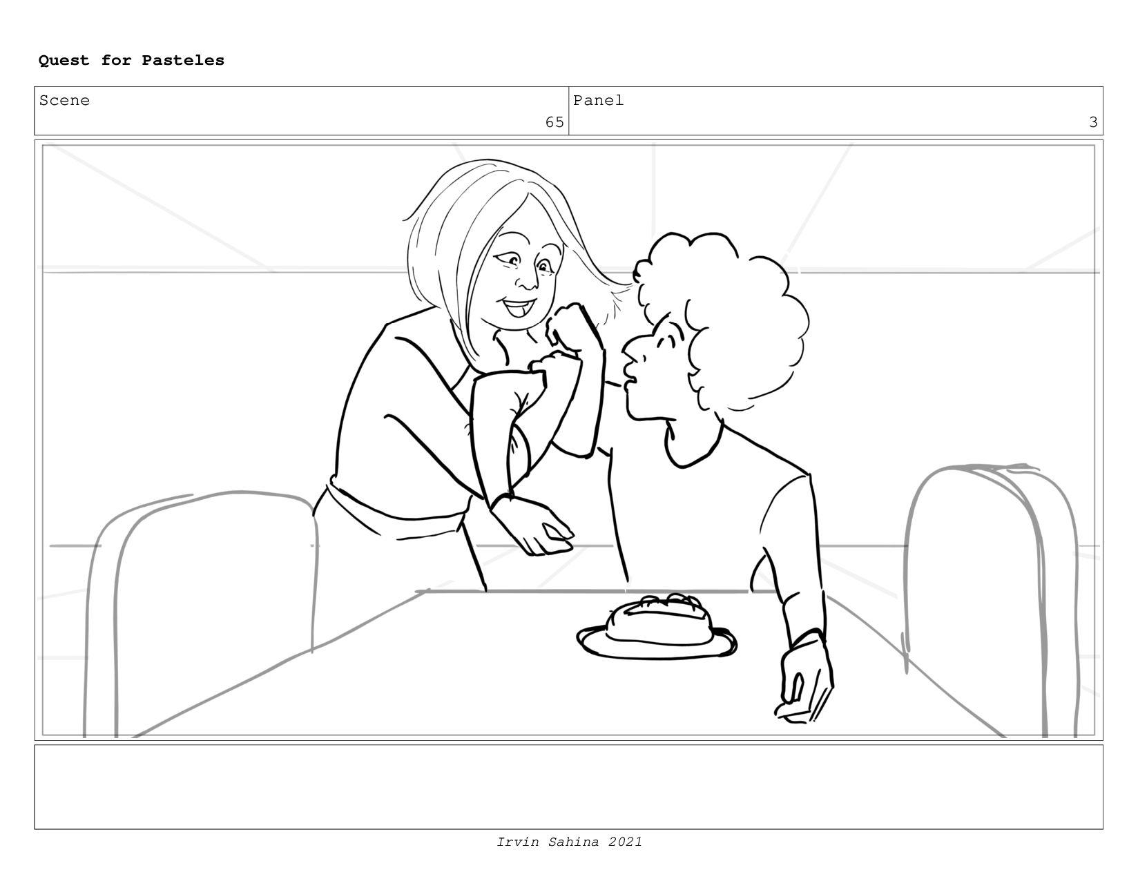 Scene 69 Panel 2 Quest for Pasteles Irvin Sahin...