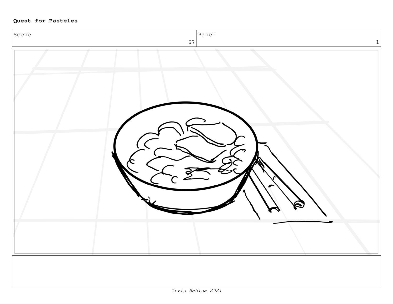 Scene 71 Panel 1 Quest for Pasteles Irvin Sahin...