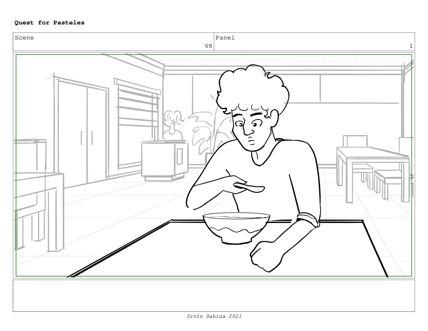 Scene 71 Panel 3 Quest for Pasteles Irvin Sahin...