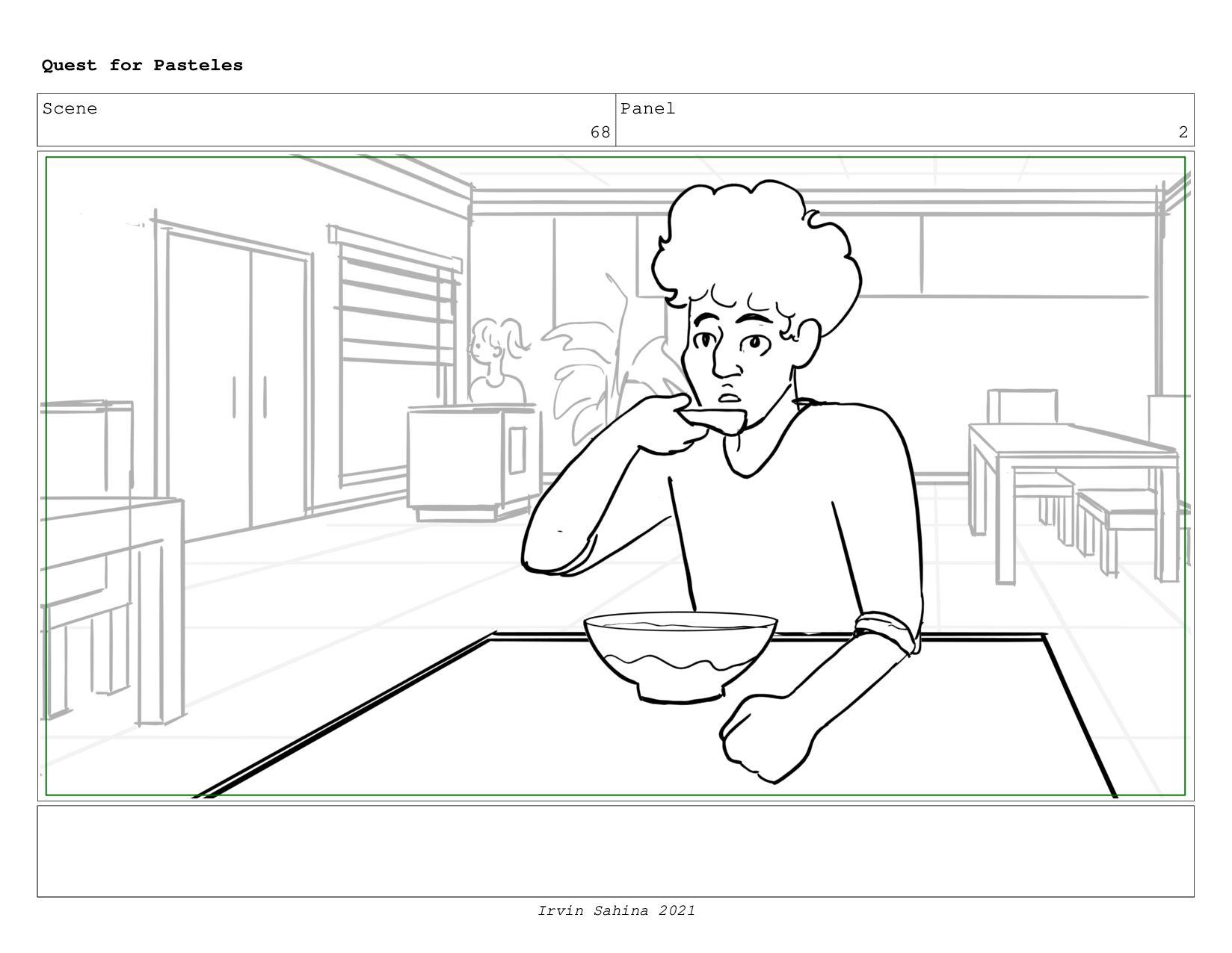Scene 71 Panel 4 Quest for Pasteles Irvin Sahin...