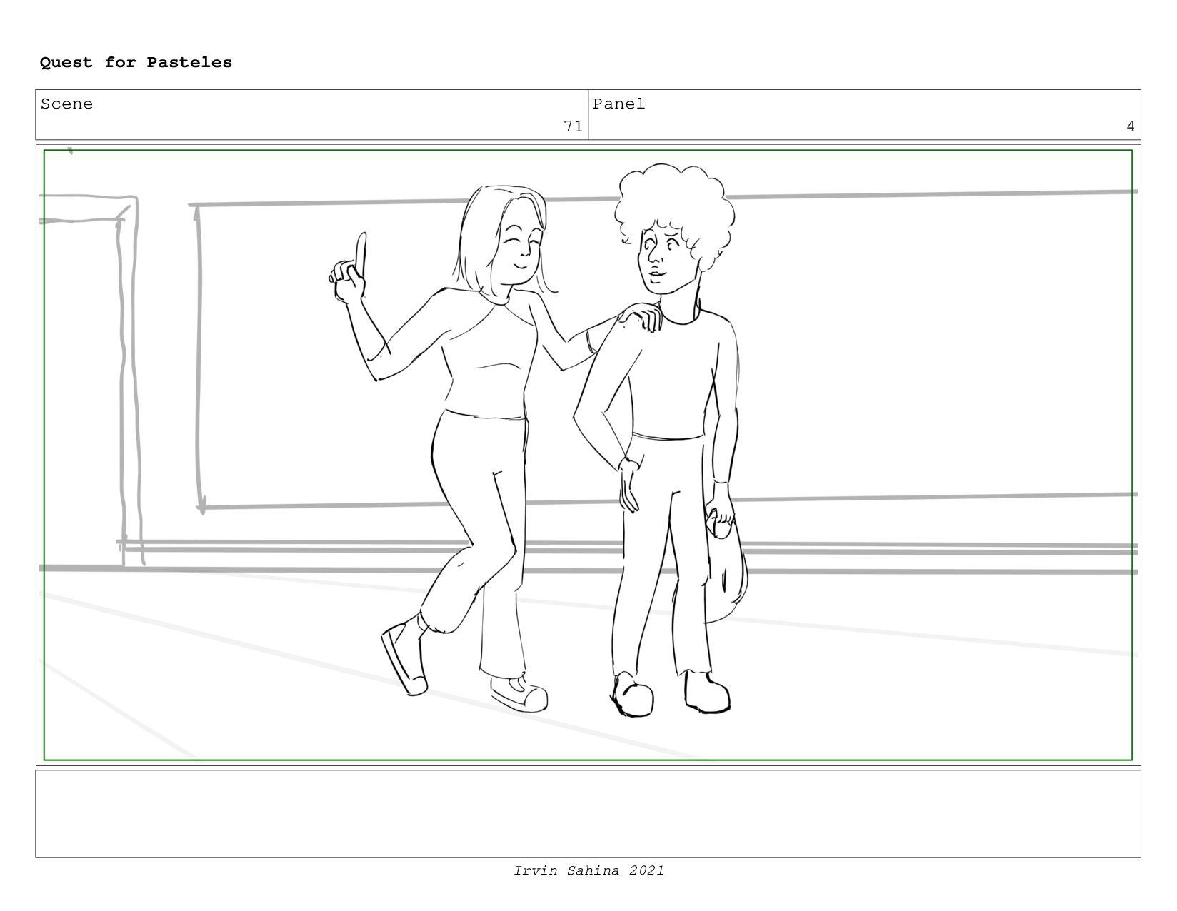 Scene 74 Panel 1 Quest for Pasteles Irvin Sahin...