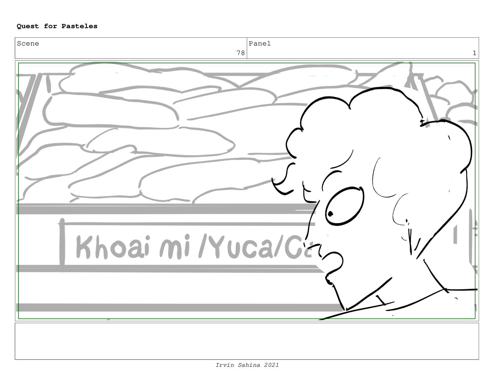 Scene 82 Panel 2 Quest for Pasteles Irvin Sahin...