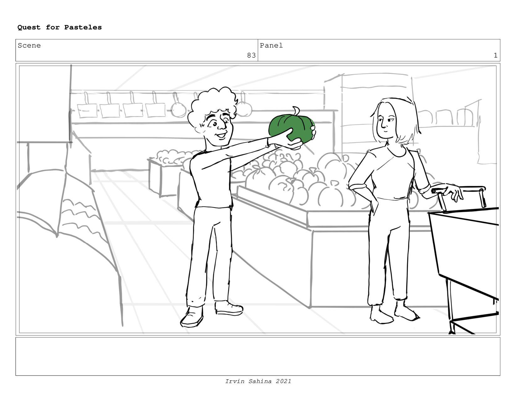 Scene 90 Panel 2 Quest for Pasteles Irvin Sahin...