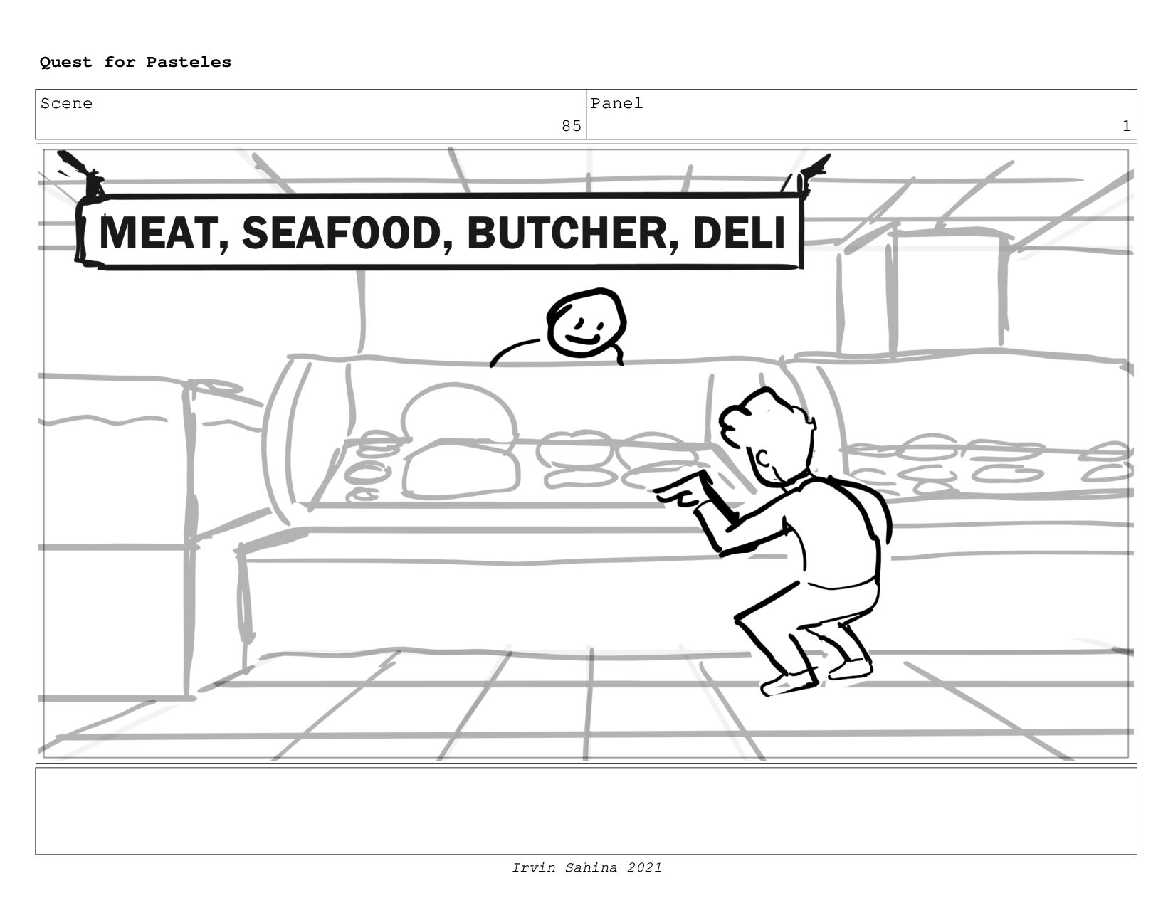 Scene 92 Panel 1 Quest for Pasteles Irvin Sahin...