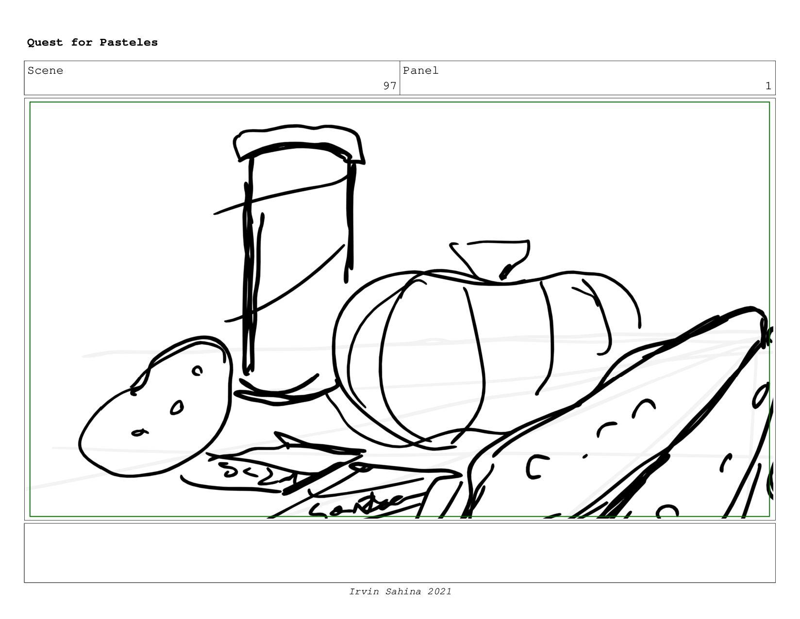 Scene 100 Panel 1 Quest for Pasteles Irvin Sahi...